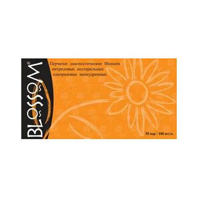 Blossom черные нитриловые перчатки, 50 пар (фотография)
