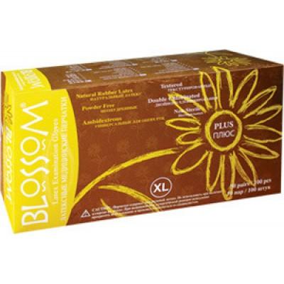 Blossom Plus латексные перчатки, 50 пар (фотография)