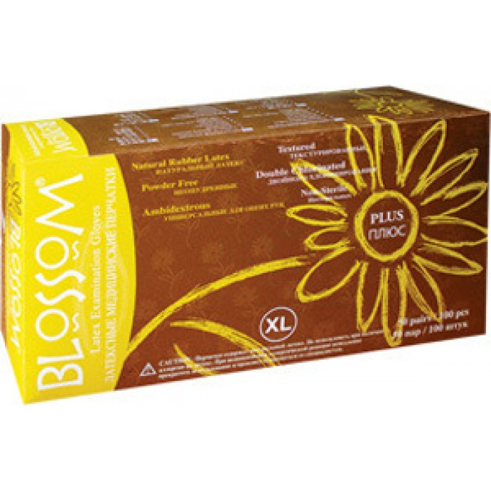 Blossom Plus латексные перчатки, 50 пар