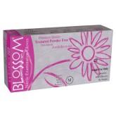 Blossom Slim Pink розовые тонкие нитриловые перчатки, 50 пар