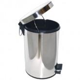 Ksitex GB-L ведро для мусора с педалью, хром, 5-20 л