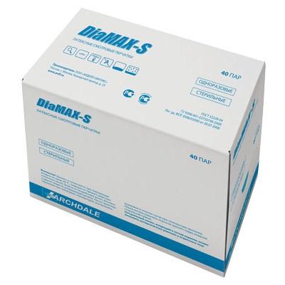 DiaMAX-S стерильные латексные перчатки, 40 пар (фотография)