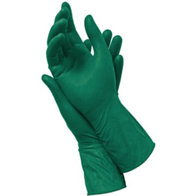 Перчатки ExtraMAX зеленого цвета
