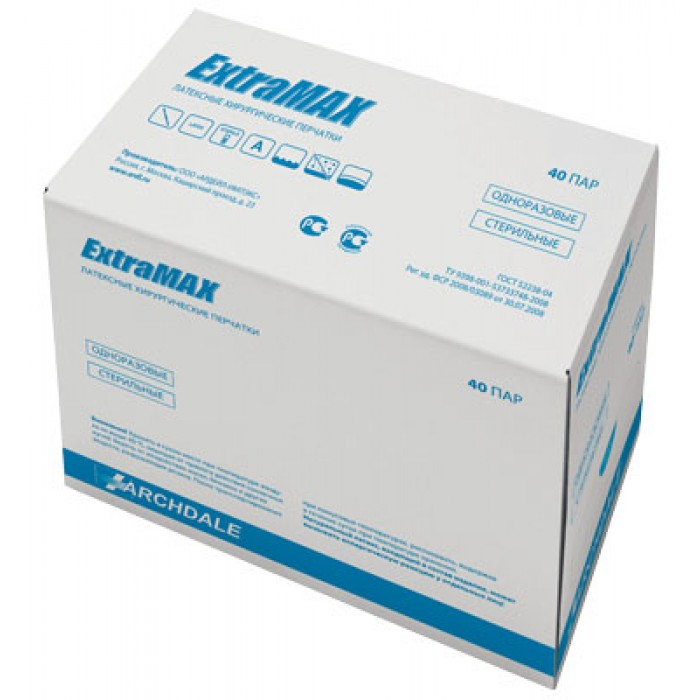 ExtraMAX Micro хирургические латексные перчатки, 40 пар
