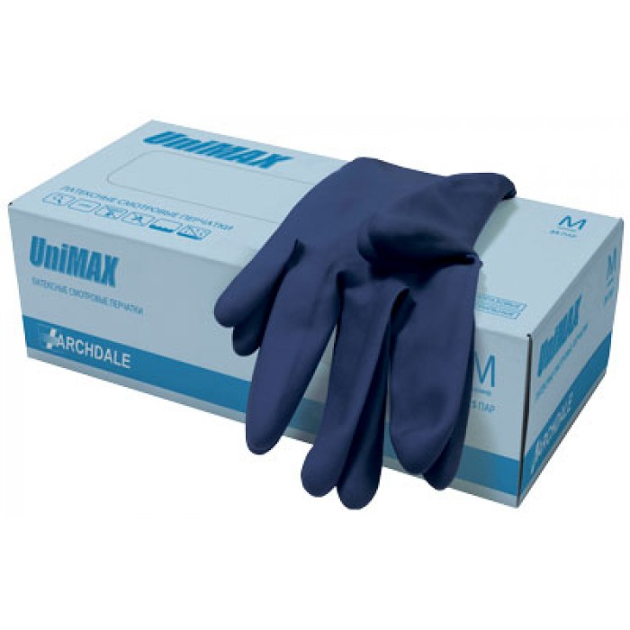 UniMAX латексные перчатки повышенной прочности, 25 пар