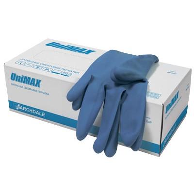 UniMax+ латексные перчатки повышенной прочности, 25 пар (фотография)