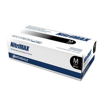 Nitrimax черные нитриловые перчатки