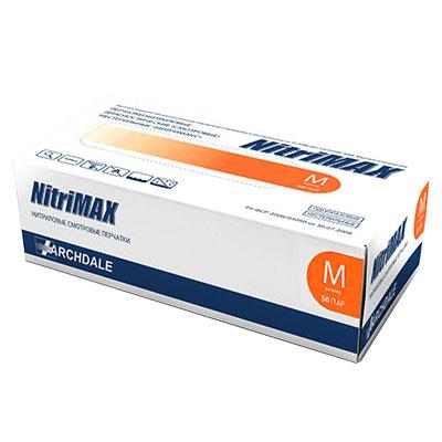 Нитримакс оранжевые нитриловые перчатки
