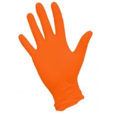 NitriMax нитриловые перчатки неопудренные смотровые оранжевые, 50 пар
