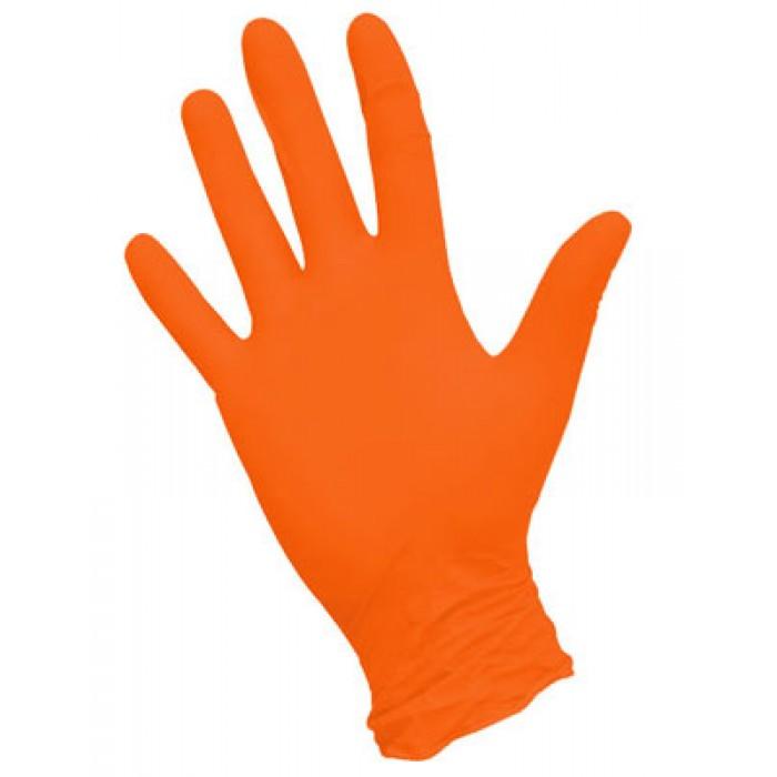 Нитриловые перчатки НитриМакс оранжевые, 50 пар