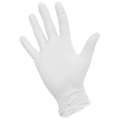 NitriMax нитриловые перчатки неопудренные смотровые белые, 50 пар (фотография)
