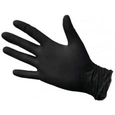 NitriMax нитриловые перчатки неопудренные смотровые черные, 50 пар