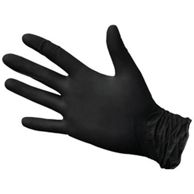 Нитримакс черные нитриловые перчатки, 50 пар (фотография)