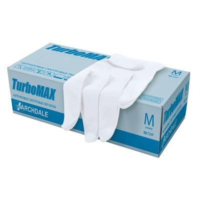 Нитриловые перчатки с полимерным покрытием TurboMAX белые, 50 пар