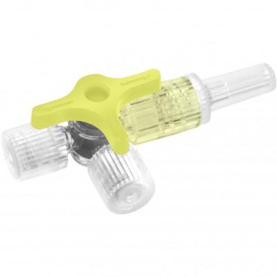 Discofix C кран трехходовой инфузионный желтый (фотография)