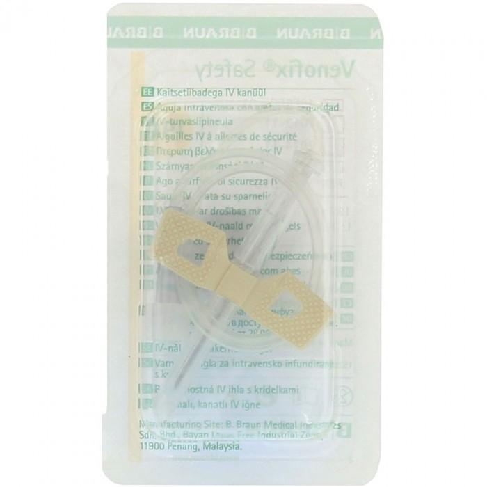 Venofix Safety безопасная игла-бабочка 19G с Луер Лок адаптером, 50 шт.