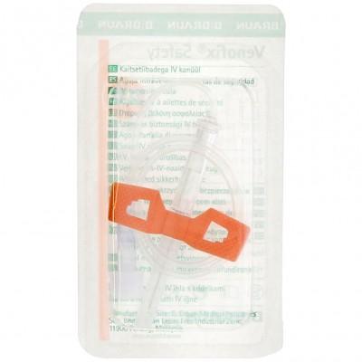 Venofix Safety безопасная игла-бабочка 25G с Луер Лок адаптером, 50 шт. (фотография)