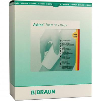 Аскина Фоам губчатая повязка 10 х 10 см, 10 шт. (фотография)