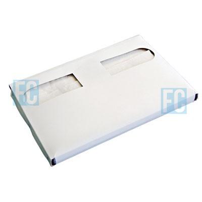 Одноразовые бумажные покрытия на унитаз 1/2 сложение, 235 шт., 7 пачек (фотография)