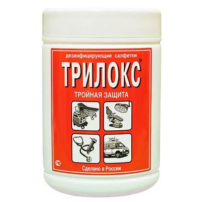 Трилокс спиртовые дезинфицирующие салфетки (фотография)