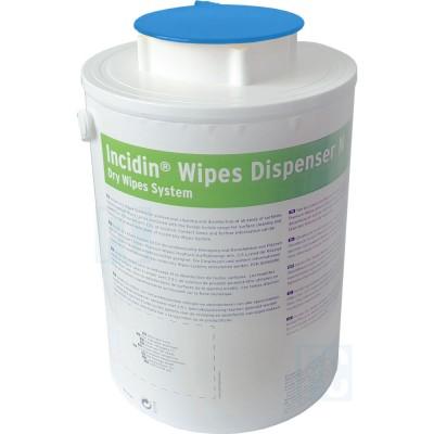 Incidin Wipes Dispenser диспенсерая система для салфеток голубая крышка (фотография)