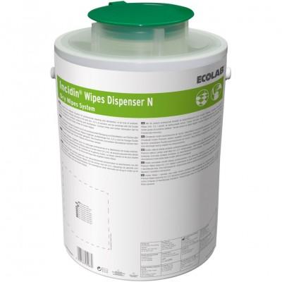 Incidin Wipes Dispenser диспенсерая система для салфеток зеленая крышка (фотография)