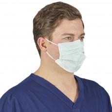 Halyard Procedure Mask Green медицинская маска на резинке зеленая, 50 шт.