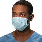 Halyard Procedure Mask Blue медицинская маска на резинке голубая, 50 шт.