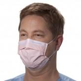Halyard Procedure Mask Pink медицинская маска на резинке розовая, 50 шт.
