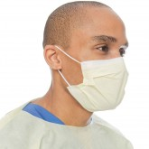 Halyard Procedure Mask Yellow медицинская маска на резинке желтая, 50 шт.