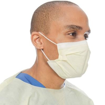 Halyard Procedure Mask Yellow медицинская маска на резинке желтая, 50 шт. (фотография)