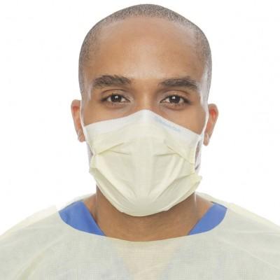 Halyard Procedure Mask Yellow медицинская маска на резинке желтая