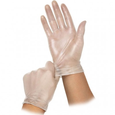 Eco виниловые перчатки неопудренные нестерильные, 50 пар (фотография)