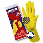 Handwork хозяйственные универсальные латексные перчатки, 12 пар