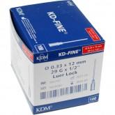 KD-Fine инъекционная игла 29G (0,33 х 12 мм), 100 шт.