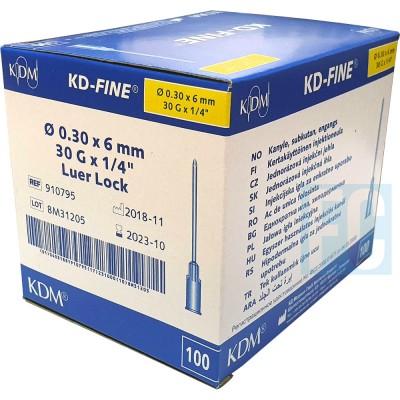 KD-Fine инъекционная игла 30G (0,30 х 6 мм), 100 шт. (фотография)