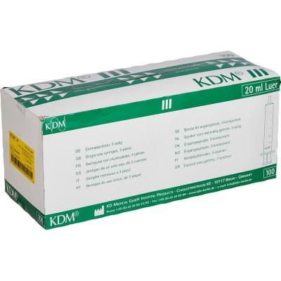 KD-Ject шприц 20 мл Луер с иглой 21G