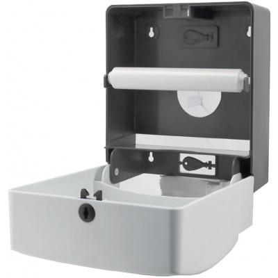 Диспенсер для рулонных и листовых бумажных полотенец Ksitex TH-8218A внутри