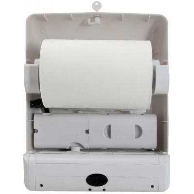 Сенсорный диспенсер для бумажных полотенец в рулонах Ksitex X-3322W внутри