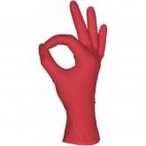 MediOk нитриловые перчатки неопудренные смотровые красные, 50 пар
