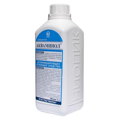 Акваминол дезинфицирующее средство для поверхностей и инструментов (фотография)