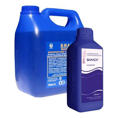 Бианол концентрированное средство для обработки ИМН и поверхностей (фотография)