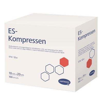 ES-Kompressen марлевые салфетки, стерильные, 50 шт. (фотография)