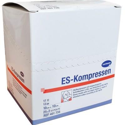 ES-Kompressen марлевые салфетки 10 х 10 см, 50 шт. (фотография)