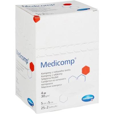 Медикомп салфетки из нетканого материала 5 х 5 см, 50 шт. (фотография)