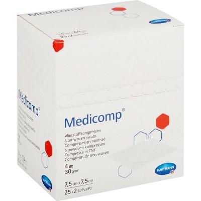 Медикомп салфетки из нетканого материала 7,5 х 7,5 см, 50 шт. (фотография)