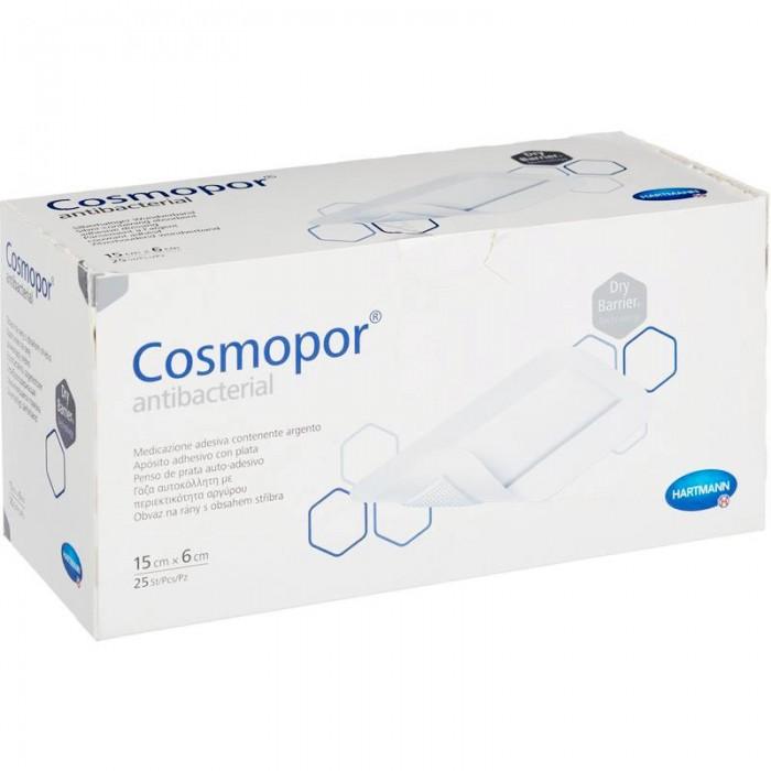 Космопор Антибактериал пластырная повязка с серебром 15 х 6 см, 25 шт.