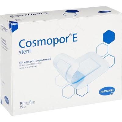 Космопор Е стерил пластырная повязка 10 х 8 см, 25 шт. (фотография)