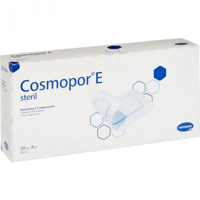 Космопор Е стерил пластырная повязка 20 х 8 см, 25 шт.