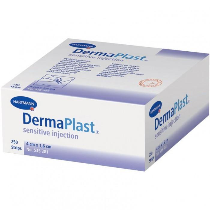 Инъекционный пластырь 4 х 1,6 см ДермаПласт инъекцион сенситив, 250 шт.